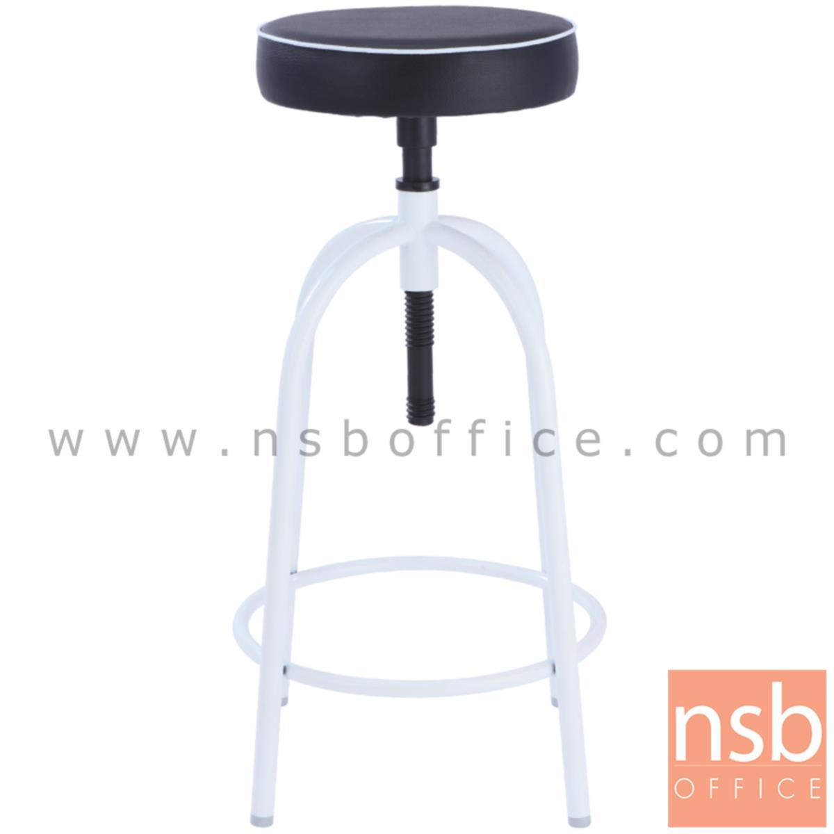 B09A048:เก้าอี้บาร์สตูลที่นั่งกลม รุ่น Ivory (ไอวอรี่)  ขาสีบรอนซ์เงิน