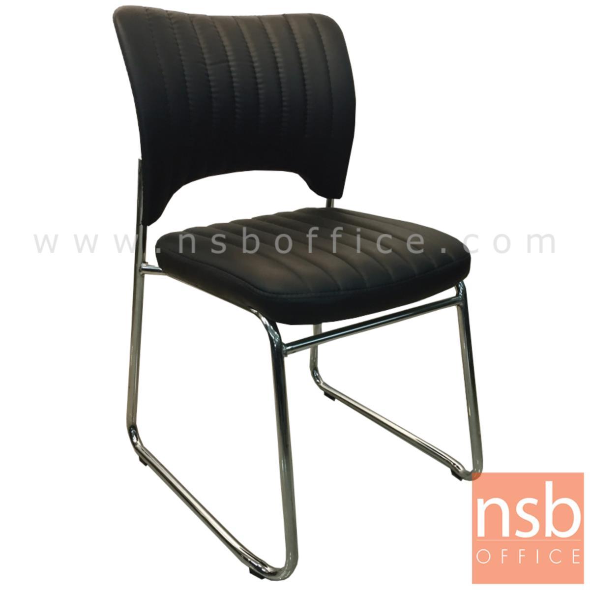 B04A117:เก้าอี้รับแขกขาตัวยู รุ่น Wagner (แวกเนอร์)  ขาเหล็กชุบโครเมี่ยม