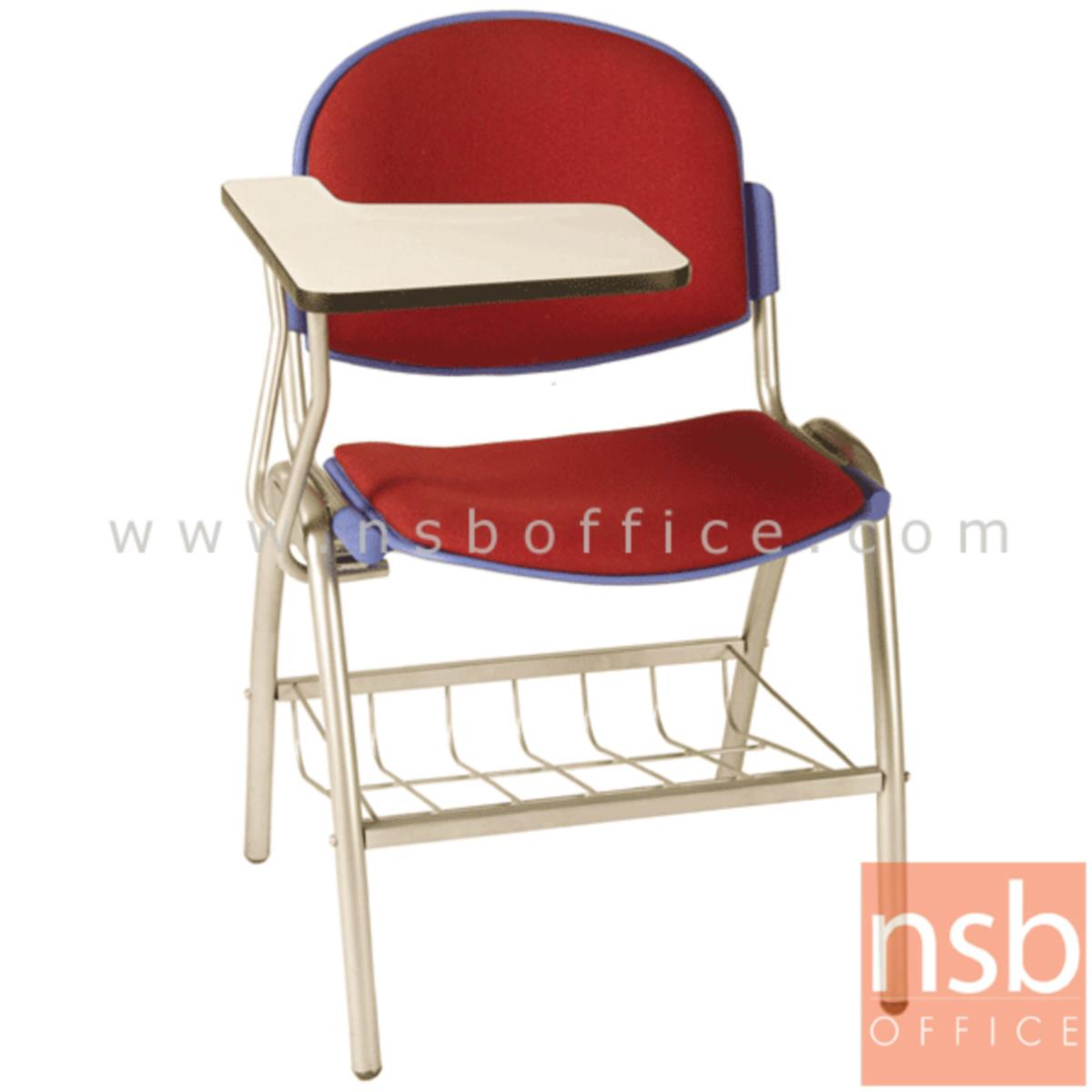 B07A053:เก้าอี้เลคเชอร์เฟรมโพลี่ รุ่น C256-646 (มีตะแกรงวางของ) ขาเหล็กพ่นสี