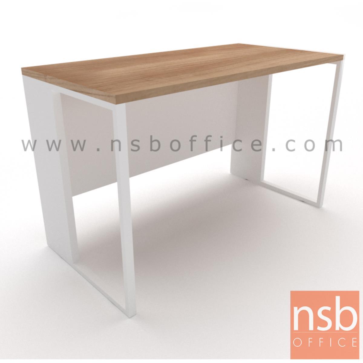A10A077:โต๊ะทำงานโล่ง  ขนาด 120W ,135W ,150W ,160W ,180W cm.  ขาเหล็กกล่อง