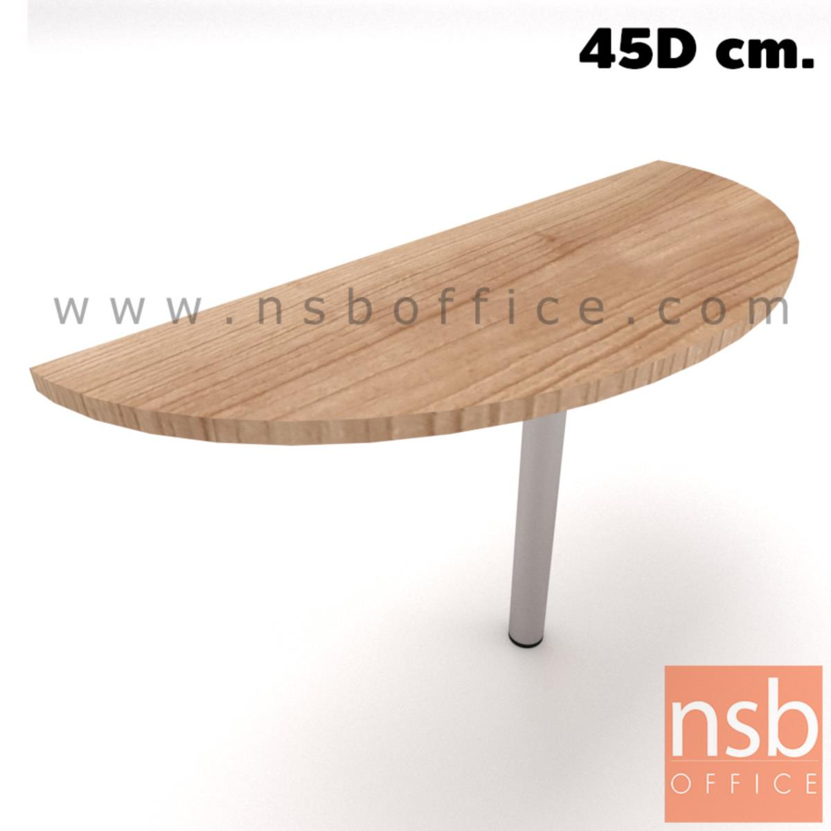 โต๊ะเข้ามุมหัวโค้งแต่ไม่ครึ่งวงกลม รุ่น NSB-2045 ขนาด 120W ,150W ,160W*45D cm.  ขากลมโครเมี่ยม