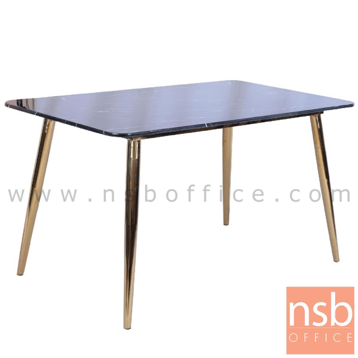 G14A216:โต๊ะรับประทานอาหาร รุ่น Durham (เดอแรม)  หน้าหินอ่อน ขาเหล็กทอง