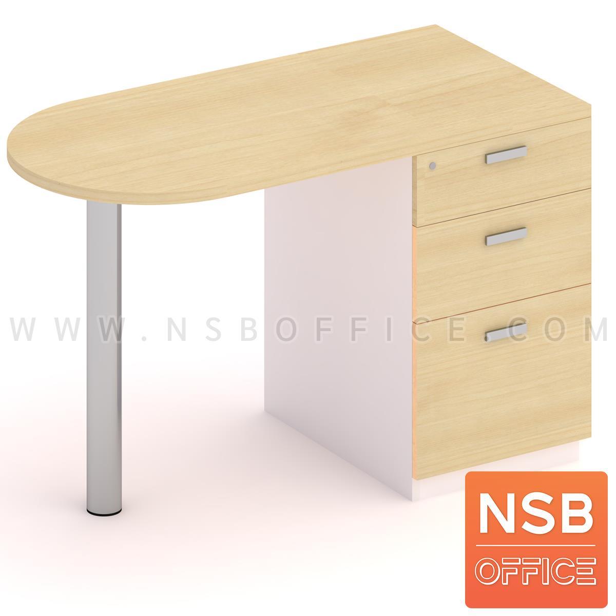 โต๊ะทำงาน โต๊ะตรวจหัวโค้ง 3 ลิ้นชัก รุ่น Cera (เซร่า) ขนาด 120W, 150W cm. ขาเหล็กกลม