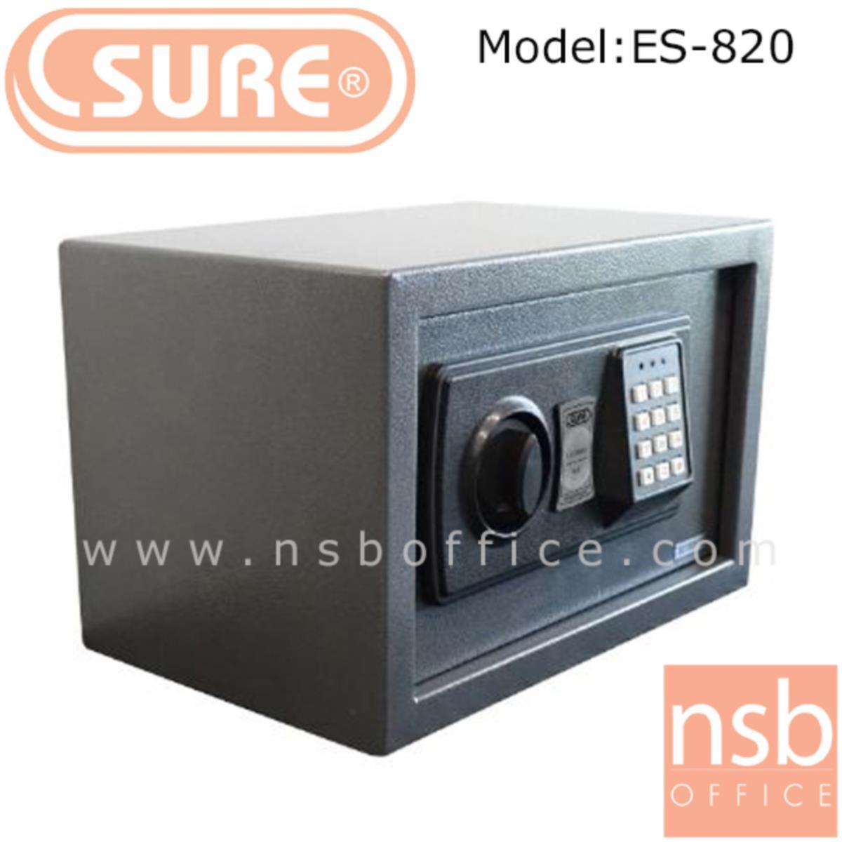 ตู้เซฟดิจตอล SR-ES820 น้ำหนัก 4 กก. (1 รหัสกด / ปุ่มหมุนบิด)