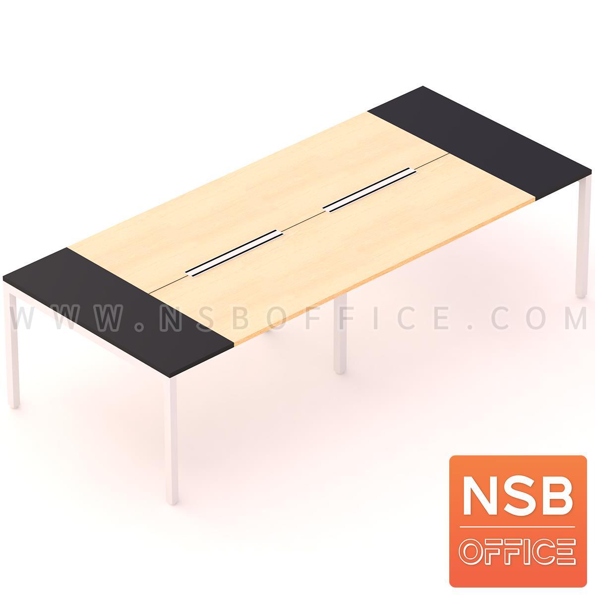 A05A175:โต๊ะประชุมทรงสี่เหลี่ยม 120D cm. NSB-SQ12  พร้อม popup แบบสองทาง