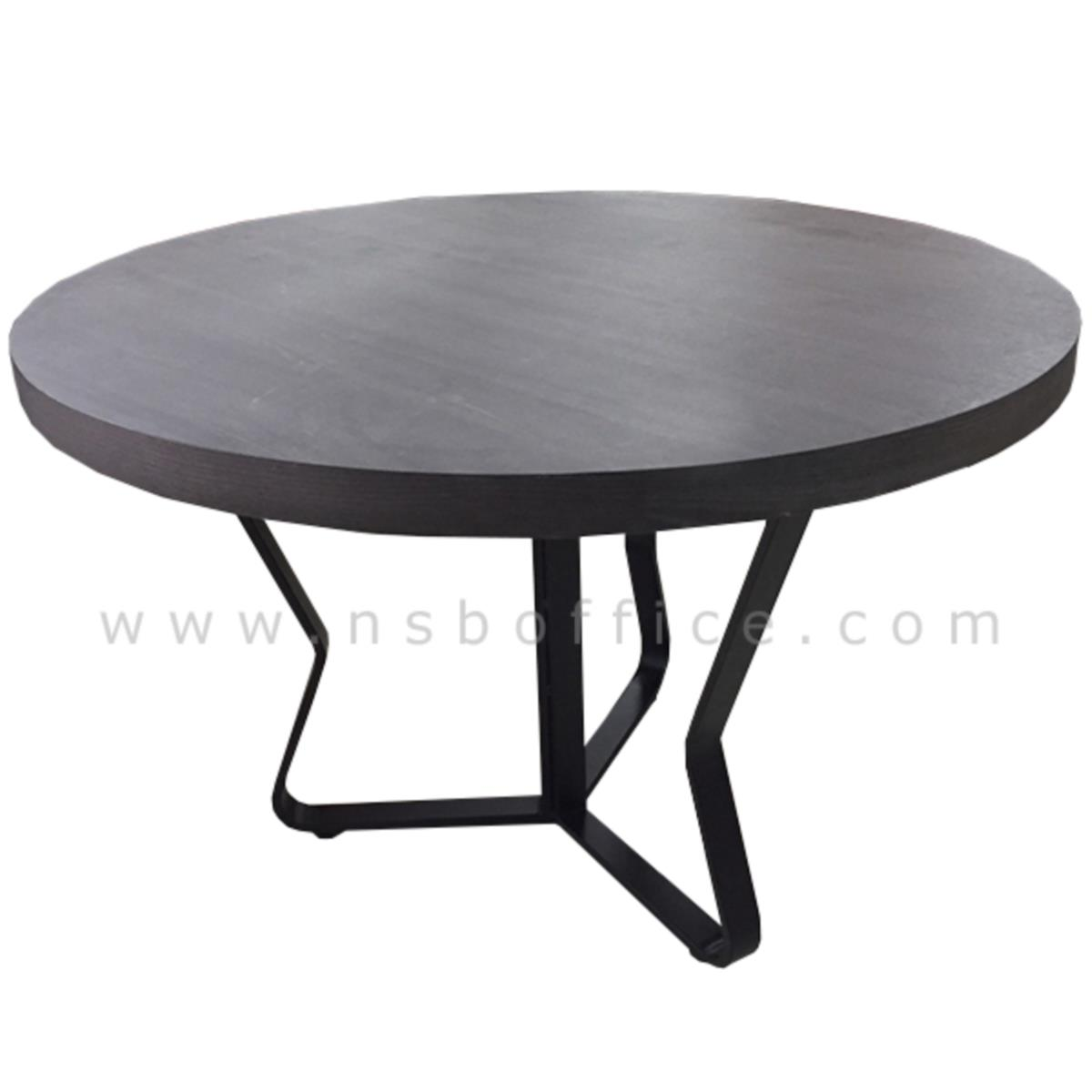 L10A183:โต๊ะประชุมกลม  ขนาด 120Di*79H cm. ขาเหล็กทรงแจกัน 3 ขา