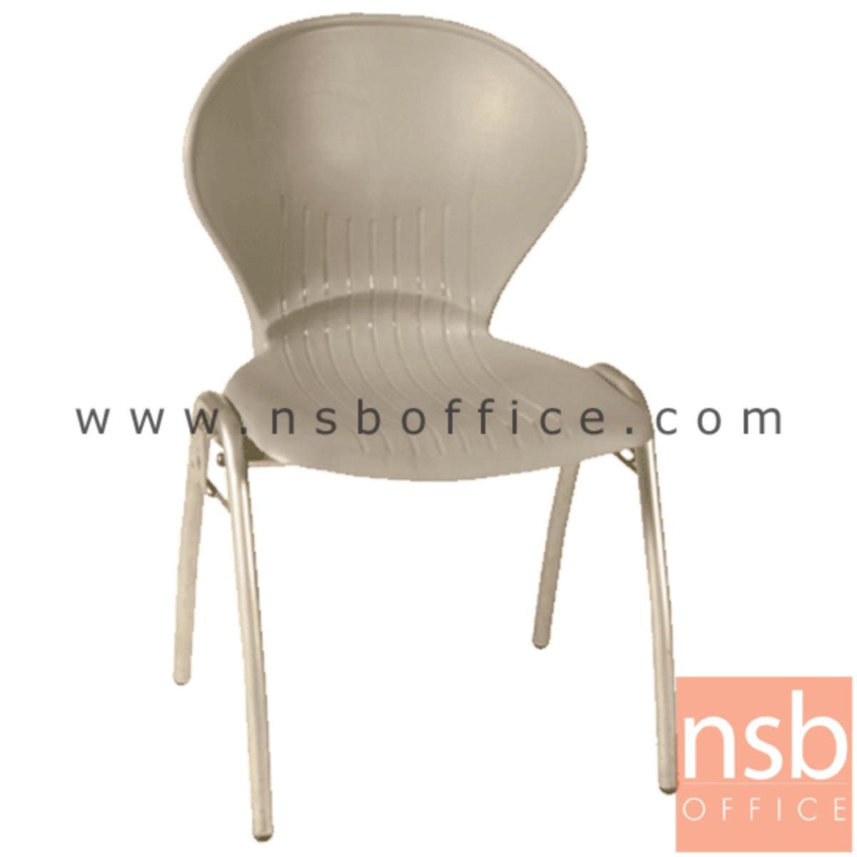 เก้าอี้อเนกประสงค์เฟรมโพลี่ รุ่น A866-266  ขาเหล็กพ่นสีเทา