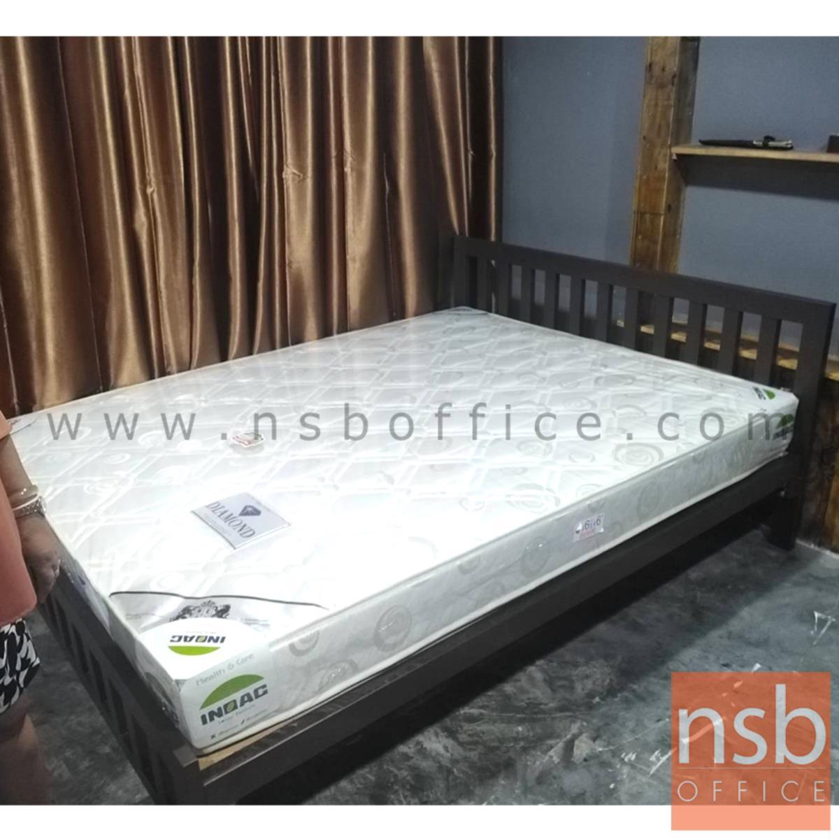 เตียงเหล็กเหลี่ยมหัวระแนงแนวตั้ง  ขนาด 3.5, 5 และ 6 ฟุต (รับประกันสินค้า 5 ปี)