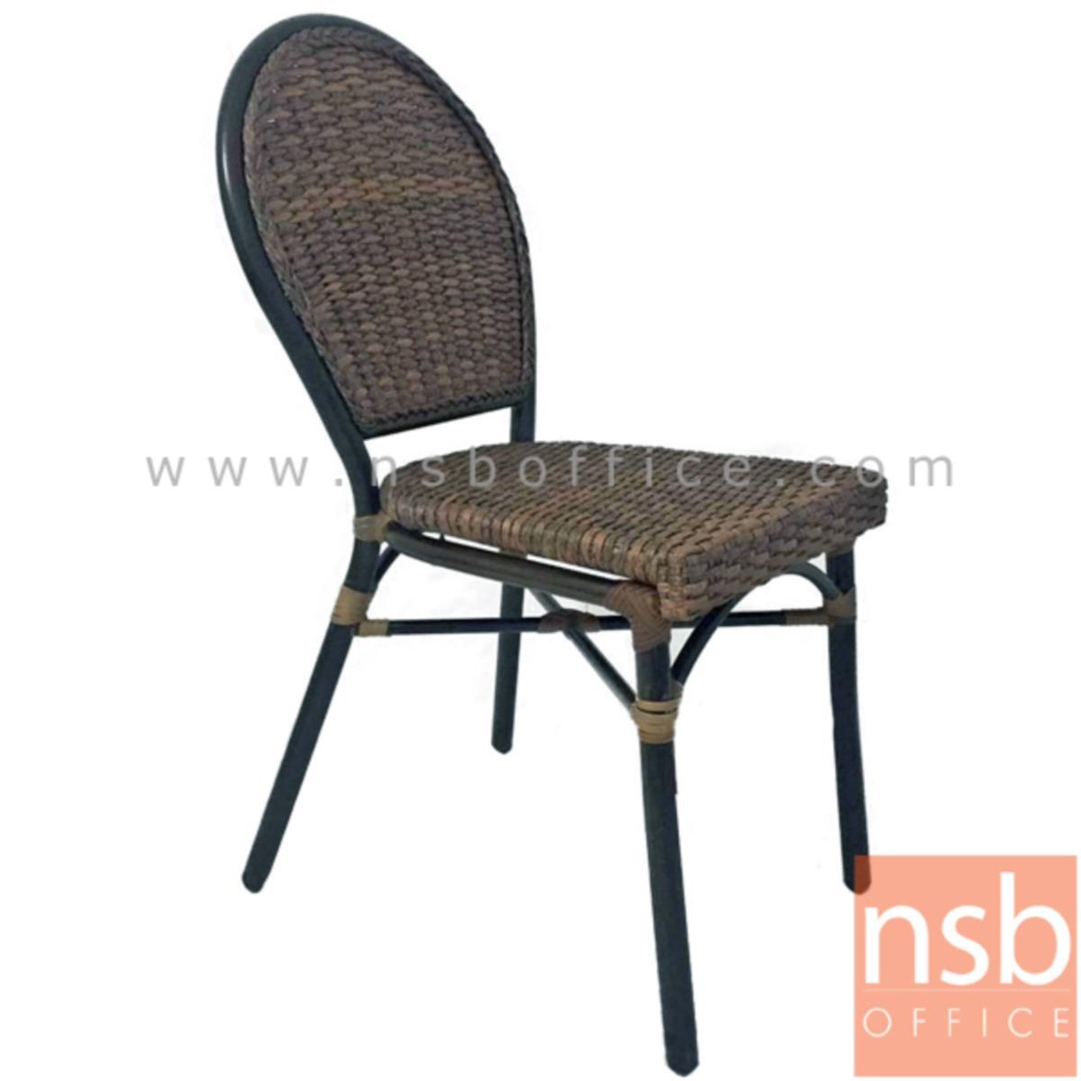 G08A239:เก้าอี้สนามหวายเทียมสาน รุ่น Campbell ไม่มีท้าวแขน (ใช้กับโต๊ะหวายฯ รุ่น G08A236, G08A237)