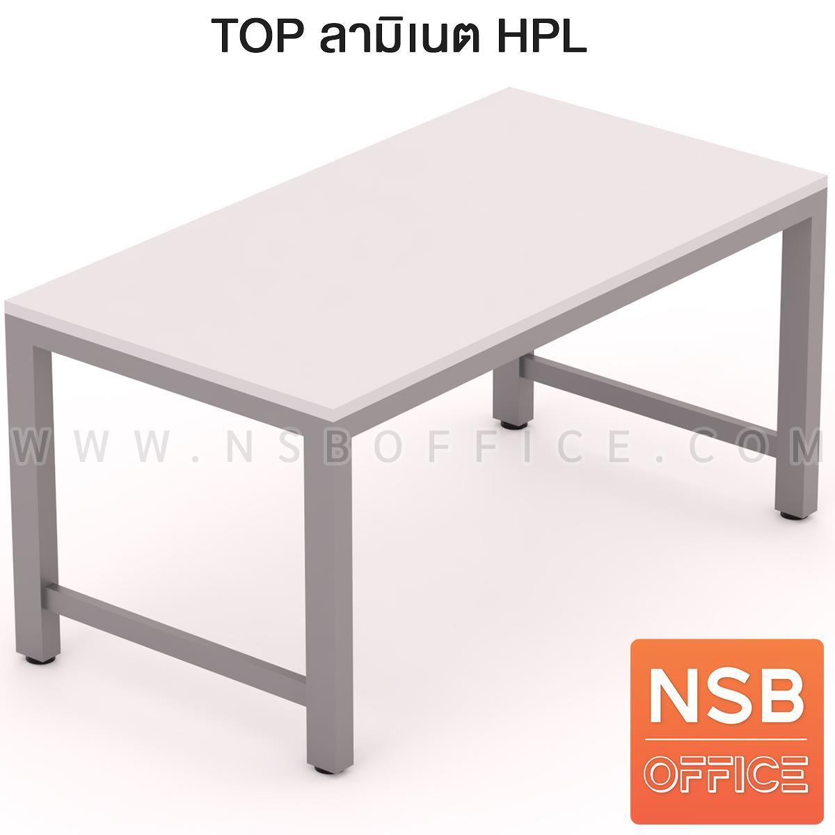 โต๊ะปฏิบัติการ รุ่น Omega (โอเมก้า) ขนาด 150W*80D cm. หน้าท็อป HPL และ คอมแพคลามิเนต ขาเหล็กเหลี่ยม