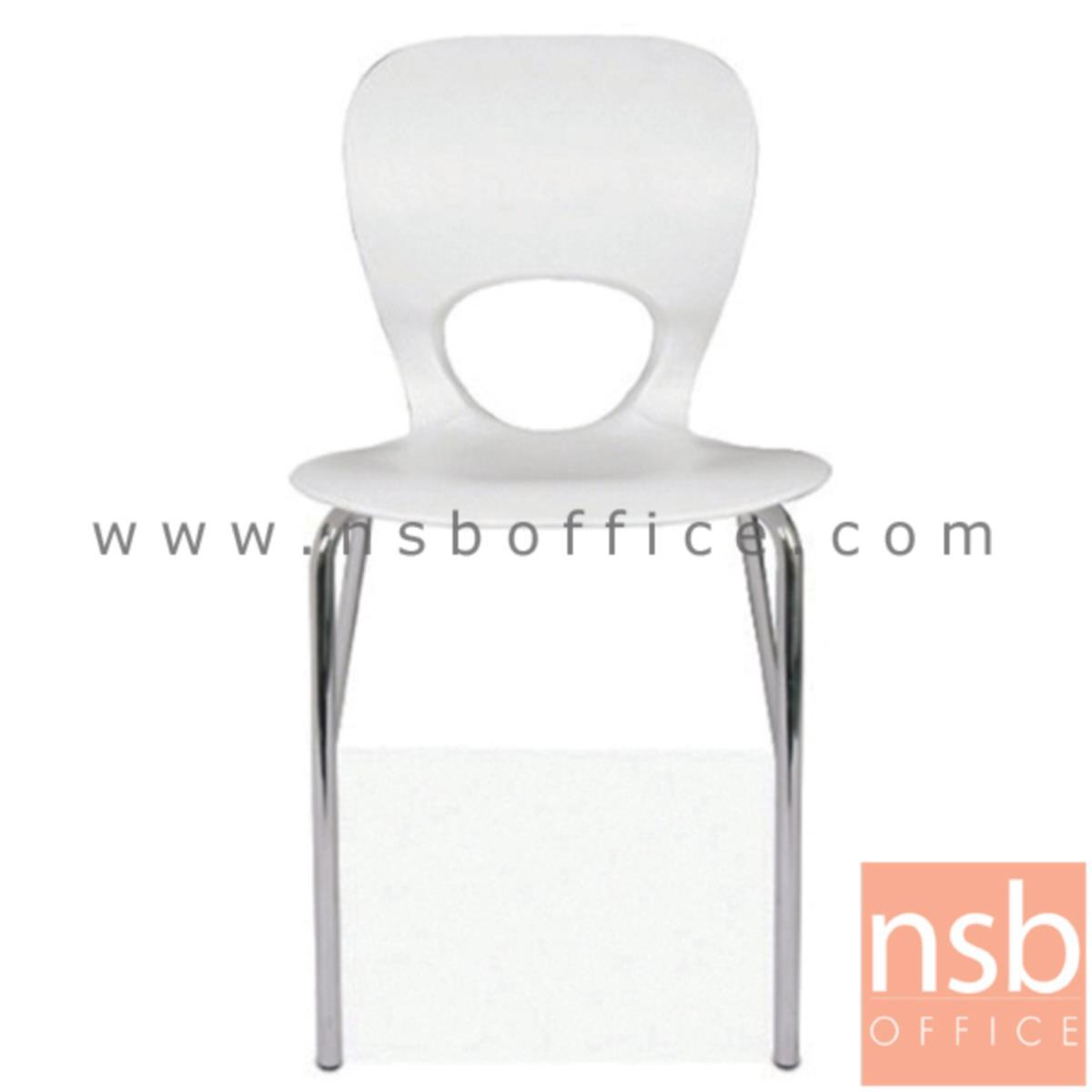เก้าอี้อเนกประสงค์เฟรมโพลี่ รุ่น TTY-LOVE-40  ขาเหล็กชุบโครเมี่ยม