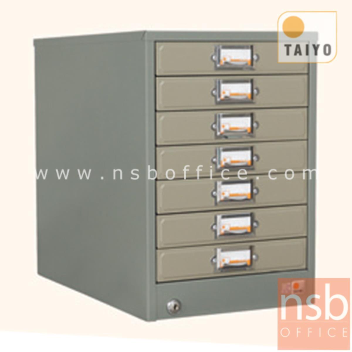 E02A028:ตู้เก็บแบบฟอร์ม 7 ลิ้นชัก ตั้งโต๊ะ (กระดาษ A4) รุ่น FR-107