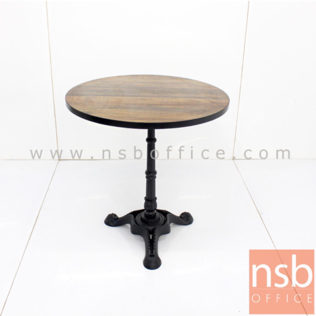 โต๊ะบาร์ COFFEE รุ่น H-CF23 ขนาด 60W ,70W ,80W ,60Di ,70Di ,80Di cm.   ขาเหล็กฐานสามแฉกสีดำ