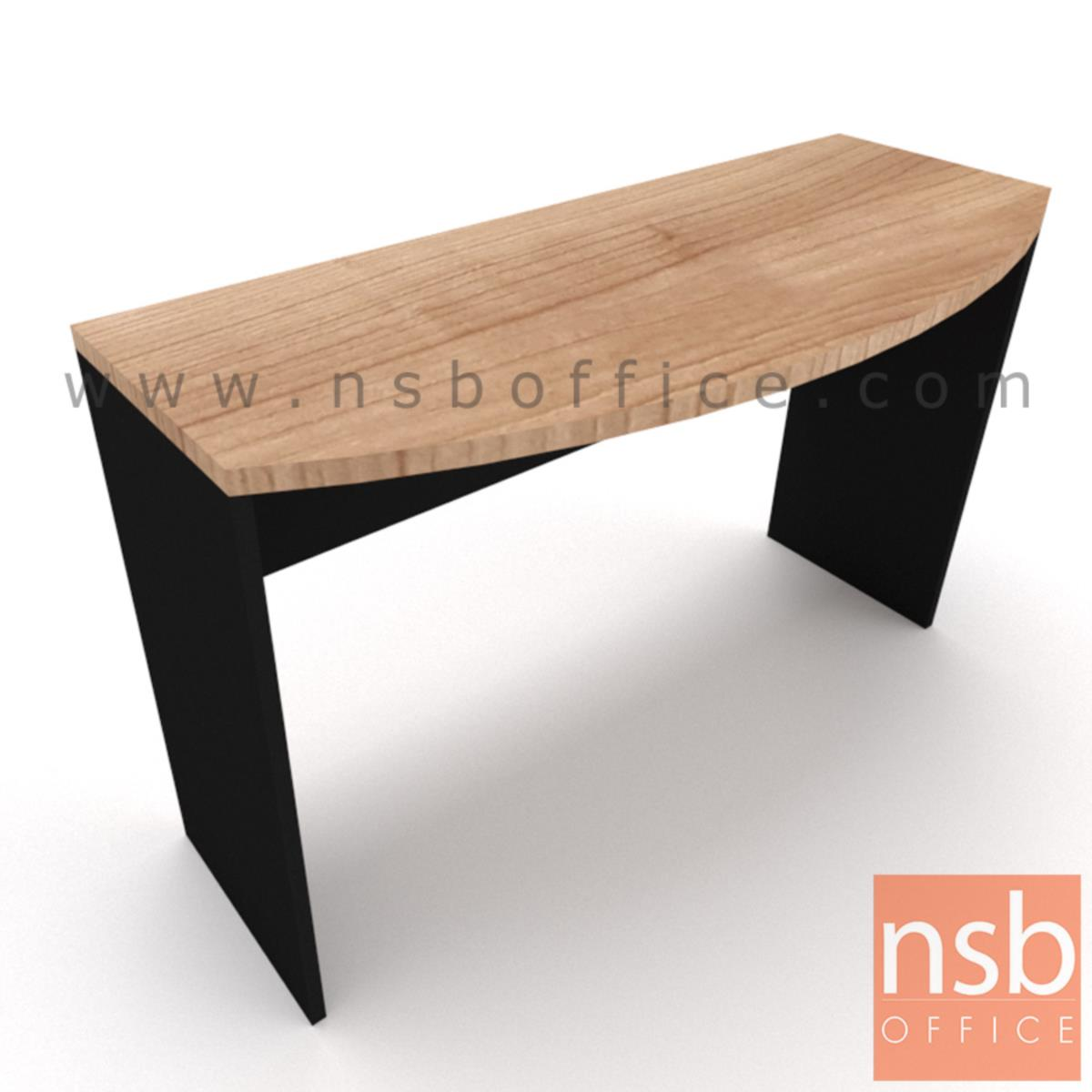 โต๊ะเข้ามุมทรงหัวเหลี่ยมโค้ง  ขนาด 120W ,150W cm. เมลามีน