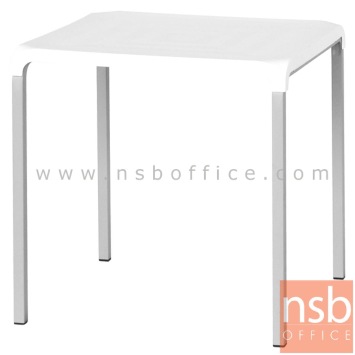 A14A047:โต๊ะหน้าพลาสติก(ABS) รุ่น PP9448  ขนาด 72W cm.  ขาเหล็กพ่นเทา(PP)