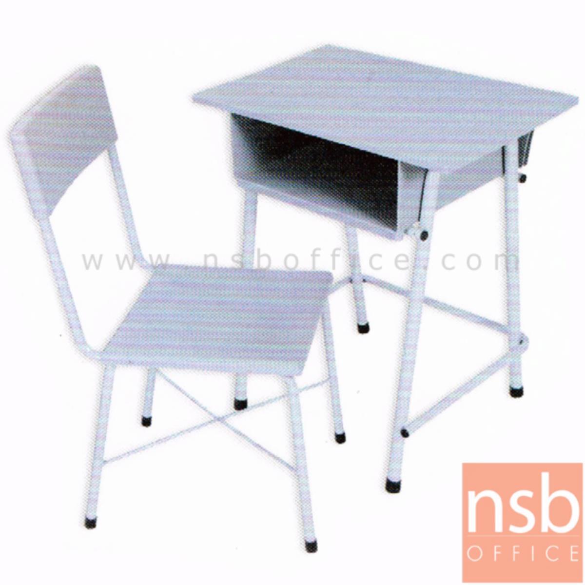 A17A029:ชุดโต๊ะและเก้าอี้นักเรียน รุ่น Amberlia (แอมเบอเลีย)  ขาเหล็กกลมพ่นสี