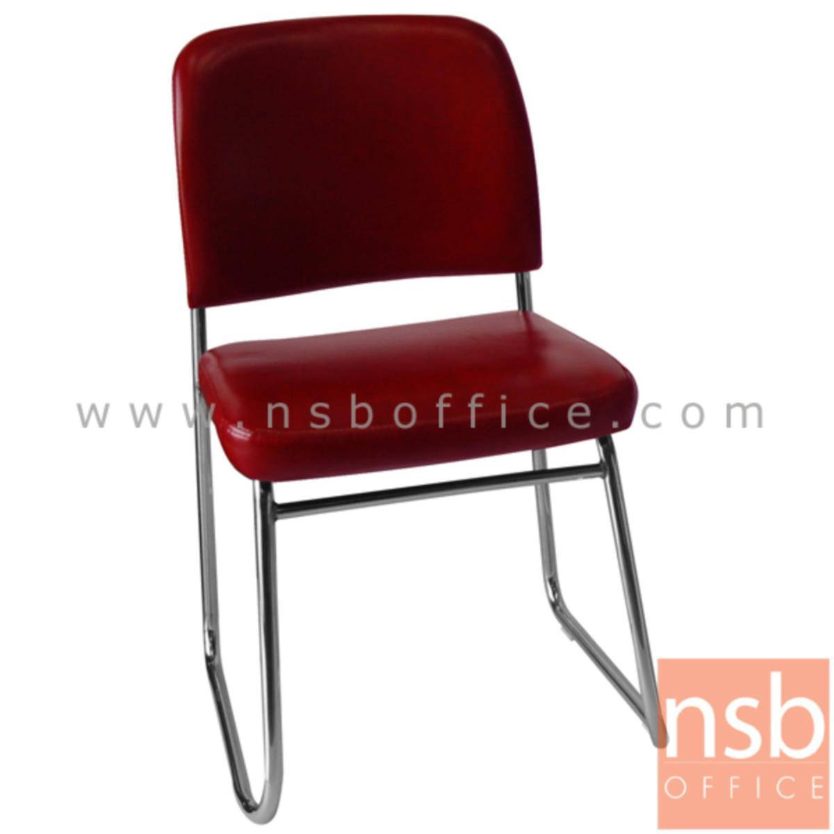 B05A165:เก้าอี้รับแขกขาตัวยู รุ่น Pearce (เพียร์ซ)  ขาเหล็กชุบโครเมี่ยม