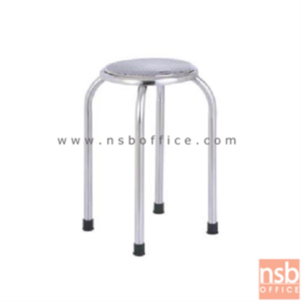 เก้าอี้สตูลกลมที่นั่งสเตนเลส รุ่น Sargant (ซาแกนต์) 28Di*49H cm. สเตนเลสล้วน