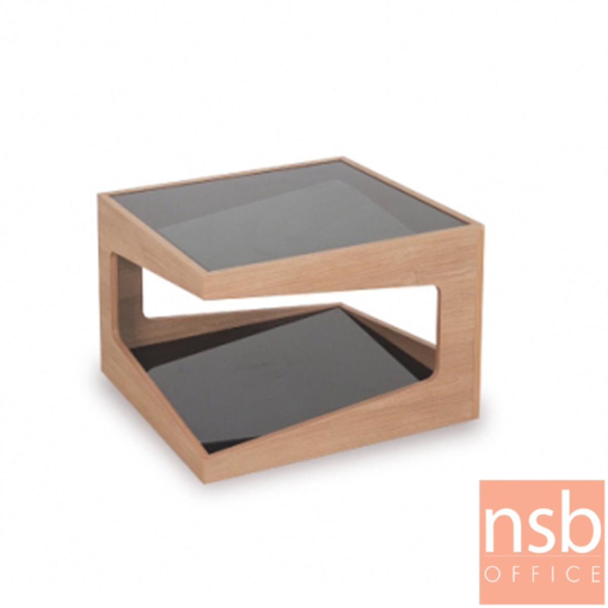โต๊ะกลางโซฟากระจก  รุ่น GD-SE ขนาด 60W ,90Wcm.  โครงไม้