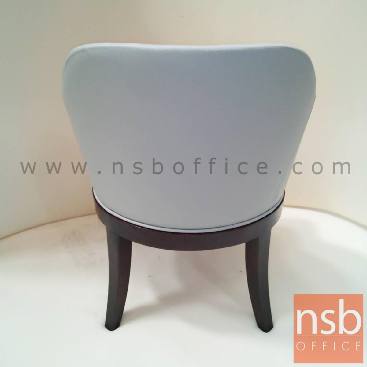 เก้าอี้รับรองหุ้มหนังเทียม PU Tango-big หน้าเบาะกว้าง 50 cm. ขาไม้ยางตรง