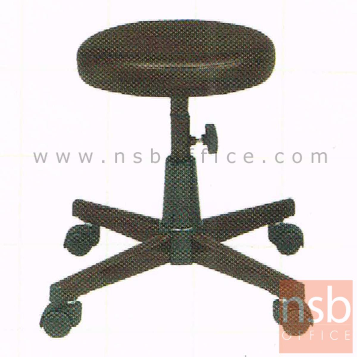 B02A081:เก้าอี้บาร์สตูลที่นั่งกลมล้อเลื่อน รุ่น Carter (คาเตอร์) ขาเหล็กใหญ่