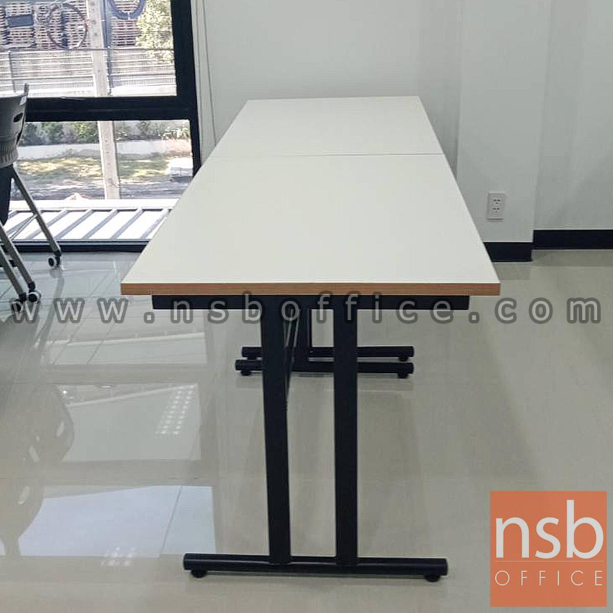 โต๊ะประชุมหน้าโฟเมก้าขาว รุ่น Edwinna (เอดวินน่า) ขนาด 120W cm.   โครงขาถอดประกอบได้