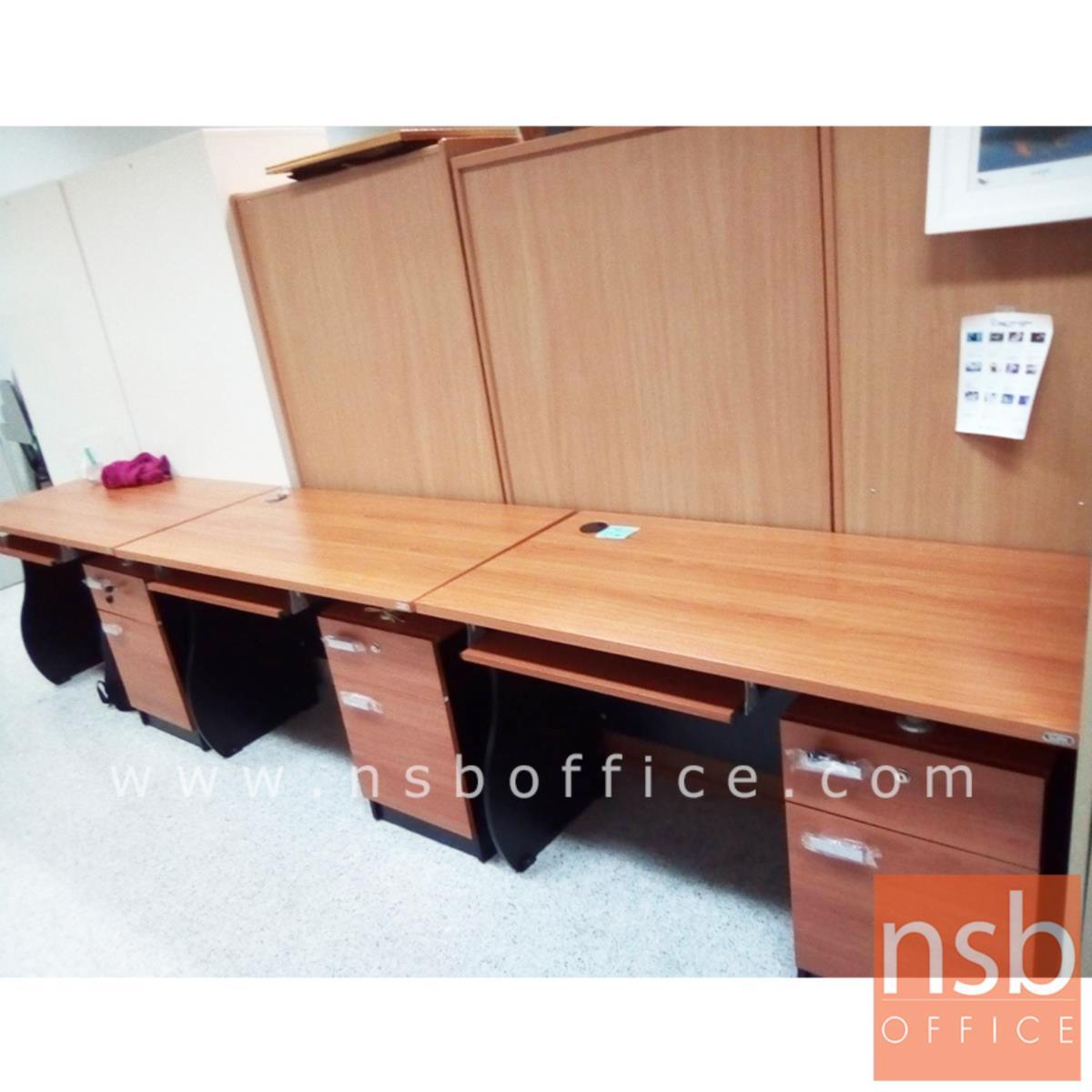 โต๊ะคอมพิวเตอร์ 1 ลิ้นชัก 1 บานเปิด รุ่น Exotica (เอ็กโซติก้า) ขนาด 120W cm. พร้อมรางคีย์บอร์ด สีเชอร์รี่ดำ