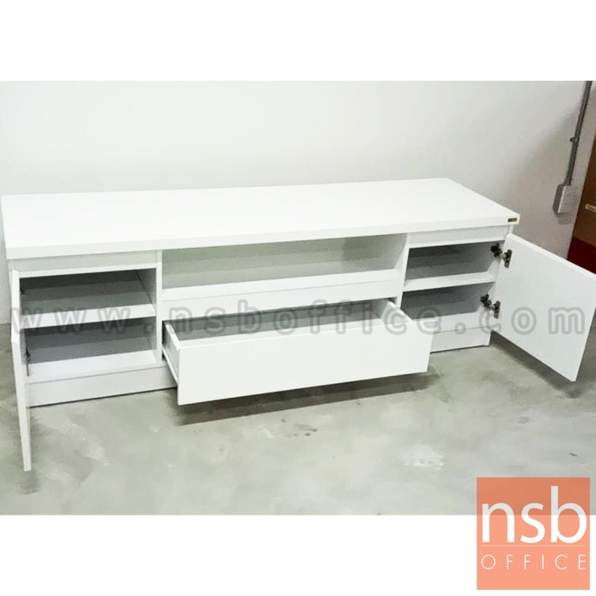 ตู้วางทีวีสีขาวล้วน  รุ่น Sanders (แซนเดอร์) ขนาด 160W*50H cm.  เมลามีน