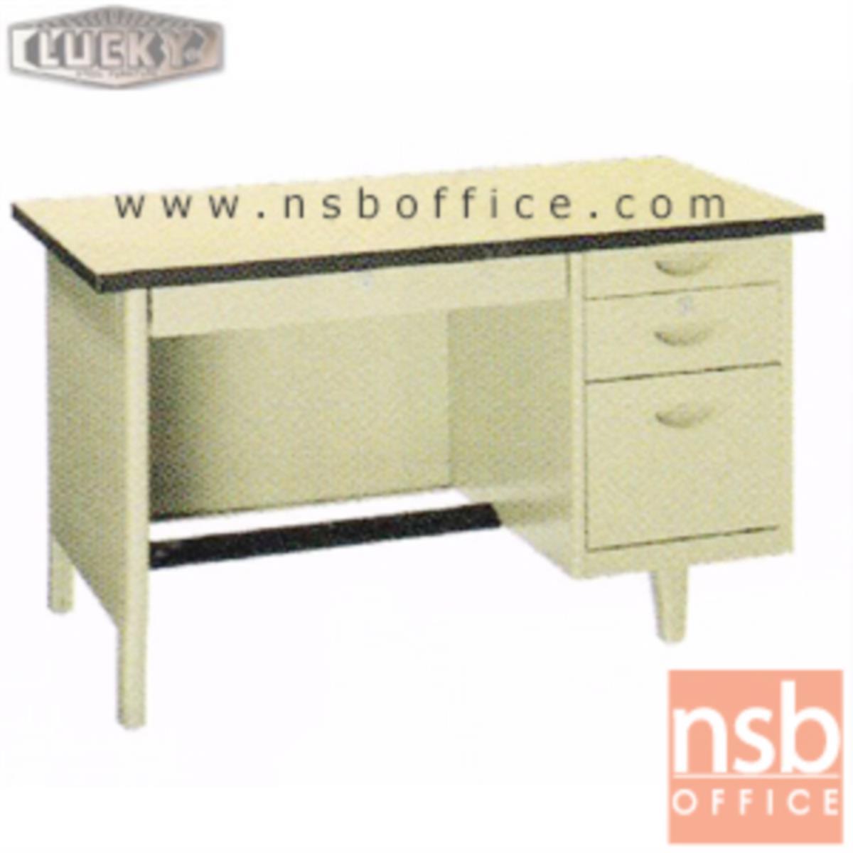 E28A102:โต๊ะทำงานเหล็กหน้าโฟเมก้า 4 ลิ้นชัก   รุ่น NTN-2436,NTN-2642,NTN-2648 ยี่ห้อ Lucky