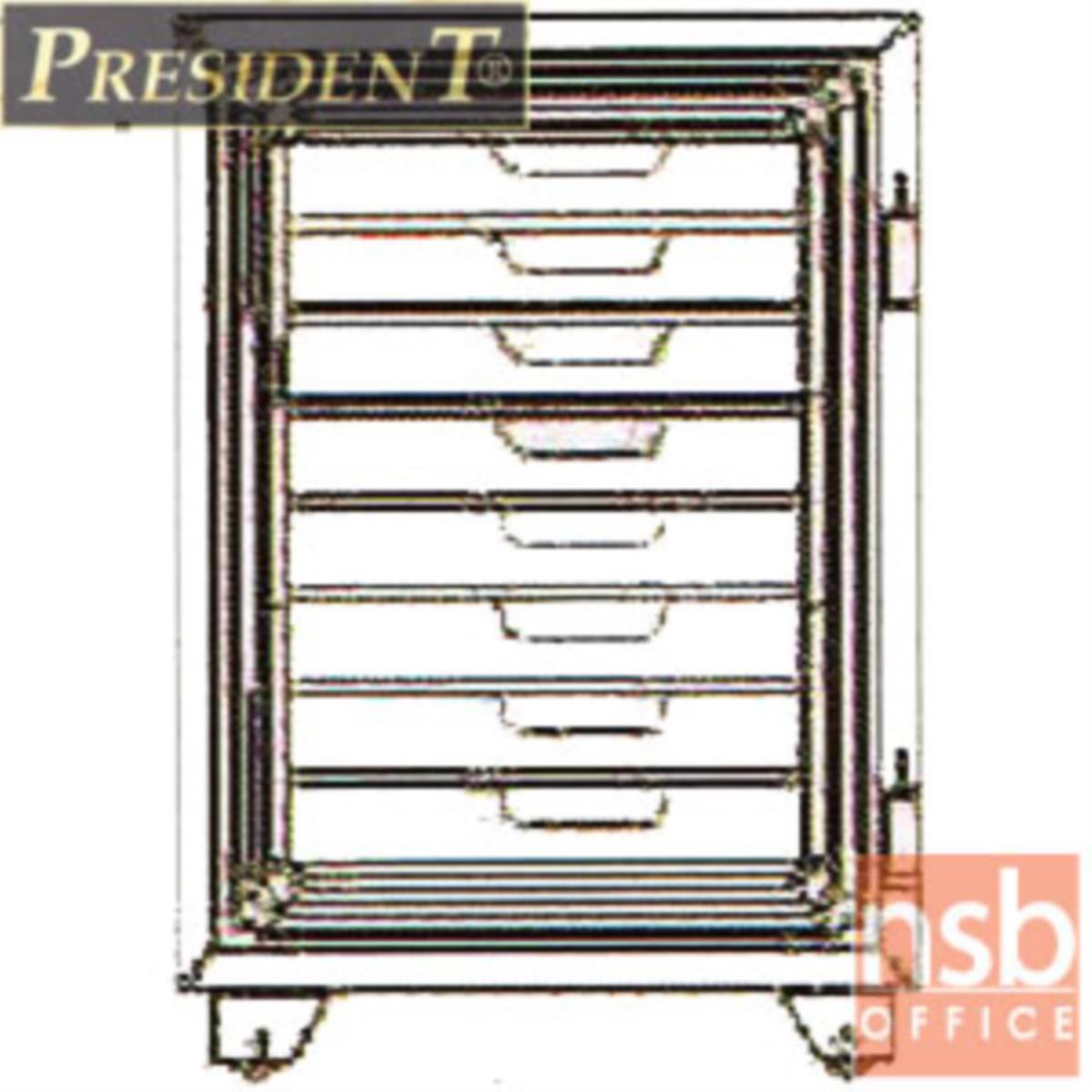 ตู้เซฟนิรภัยชนิดหมุน 105 กก. มีถาด 8 อัน  รุ่น PRESIDENT-SMT   มี 1 กุญแจ 1 รหัส (ใช้หมุนหน้าตู้)