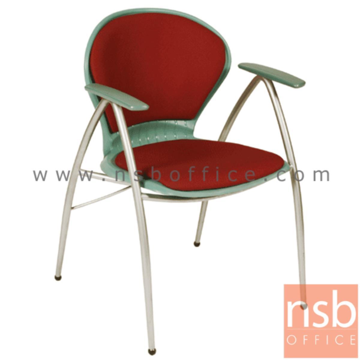 เก้าอี้อเนกประสงค์เฟรมโพลี่ รุ่น A766-166  ขาเหล็กพ่นสีเทา