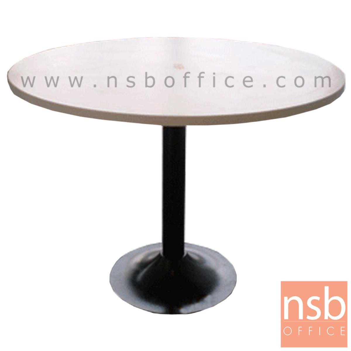 A05A009:โต๊ะประชุมทรงวงกลม  3 ,4 ที่นั่ง ขนาด 90Di ,120Di cm.  ขาเหล็กฐานกลมดำ
