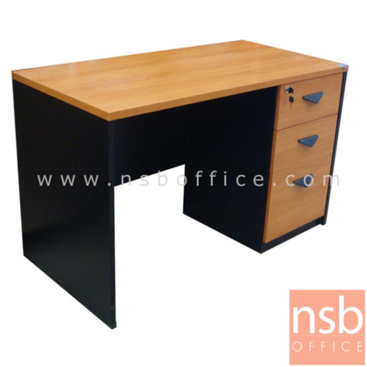 โต๊ะทำงาน 3 ลิ้นชัก รุ่น Pierce (เพียซ) ขนาด 120W cm. เมลามีน