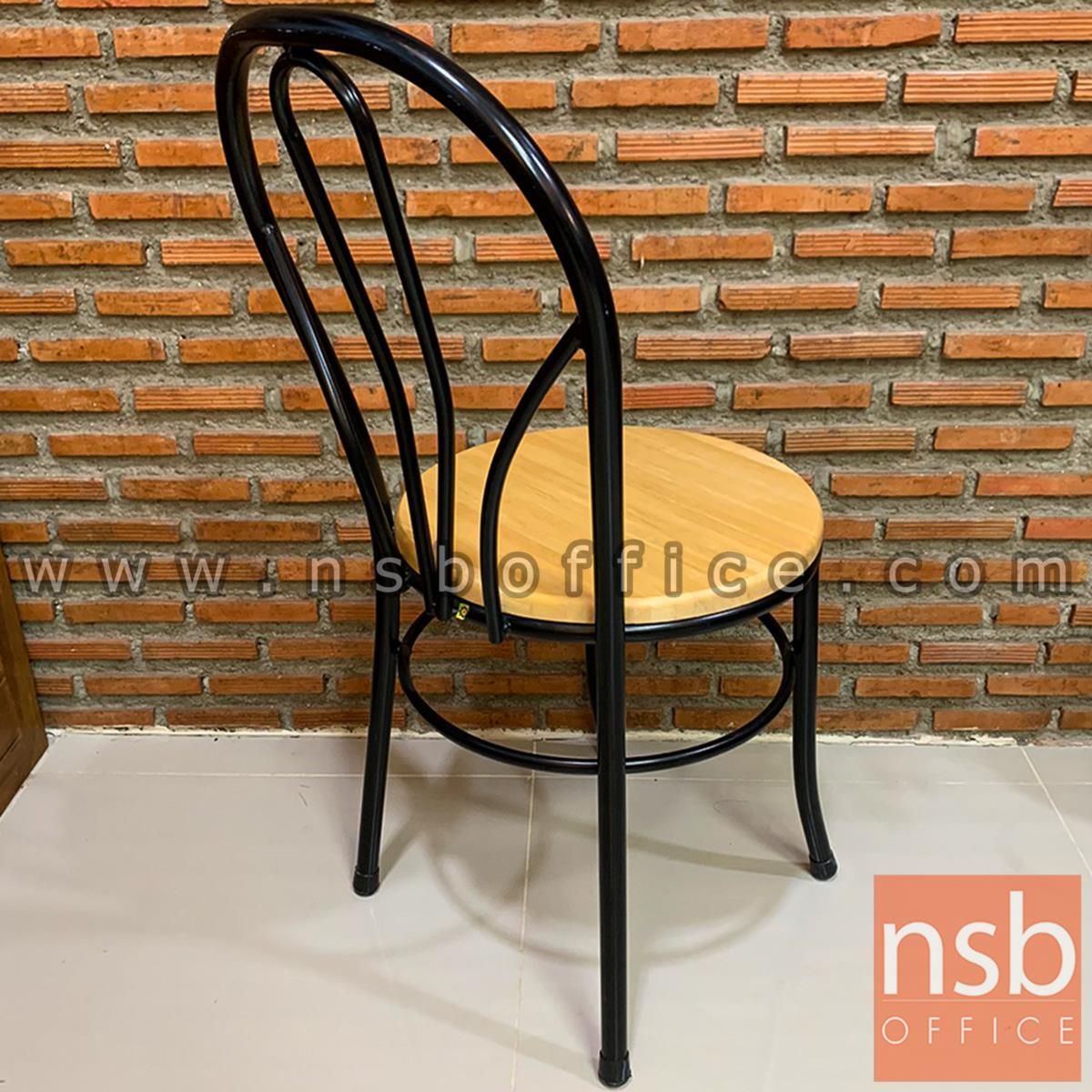 เก้าอี้อเนกประสงค์เหล็ก รุ่น BONGA-BW  ขาเหล็กพ่นดำ