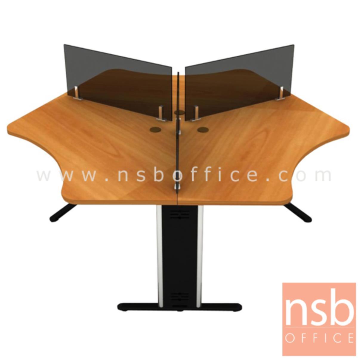 A27A005:ชุดโต๊ะทำงานกลุ่ม 3 ที่นั่ง  รุ่น NSB-005 ขนาด 90W ,120W cm. พร้อมมินิสกรีน