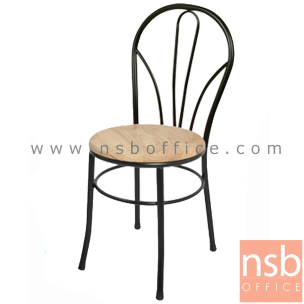 B20A046:เก้าอี้อเนกประสงค์เหล็ก รุ่น BONGA-BW  ขาเหล็กพ่นดำ