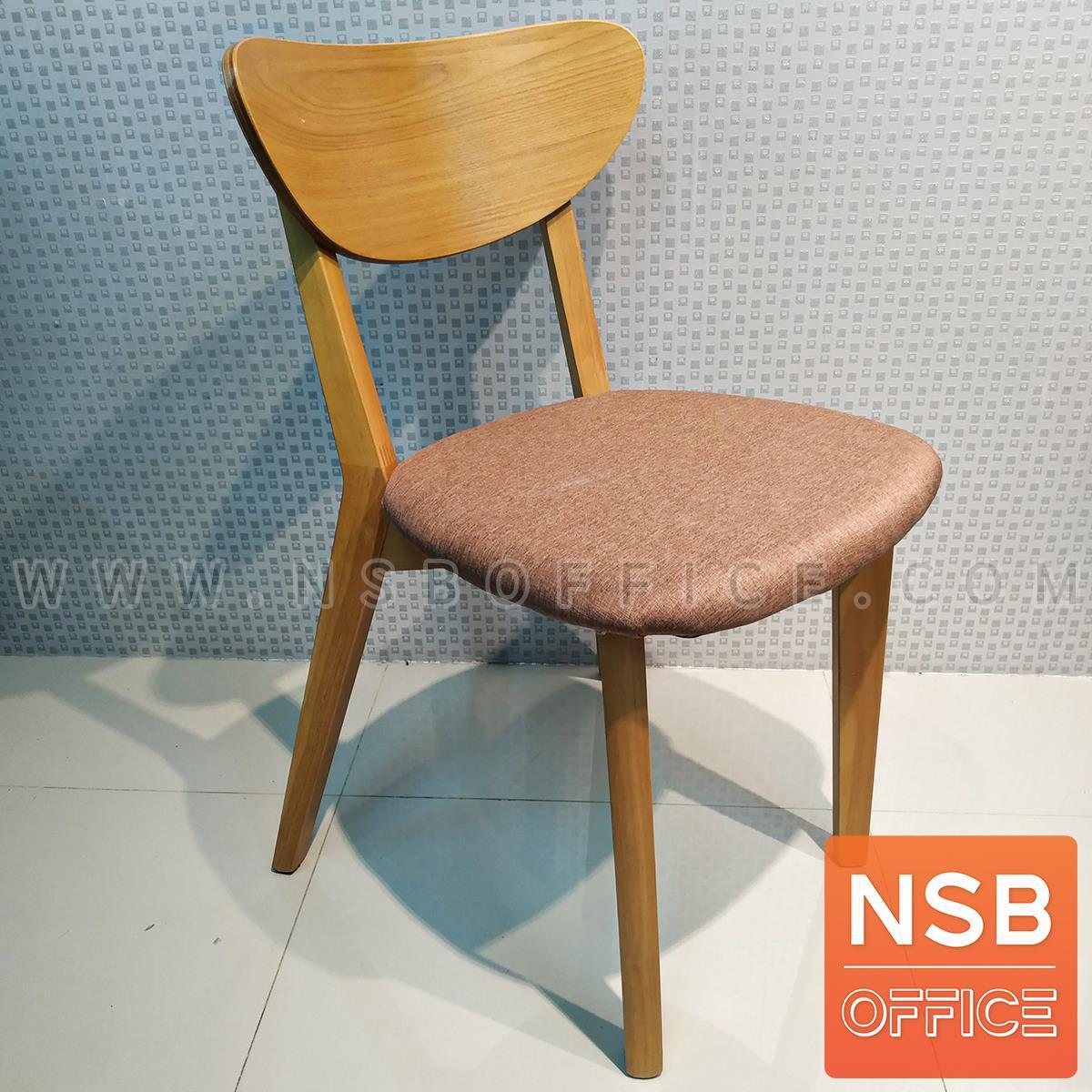 เก้าอี้รับประทานอาหาร ขาไม้จริง รุ่น  Blackburn (แบล็กเบิร์น)  ขนาด 46W cm เบาะหุ้มหนังเทียม
