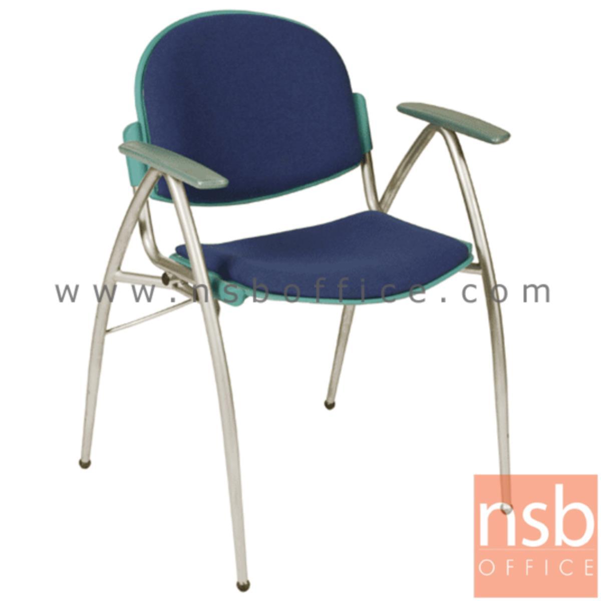 B05A069:เก้าอี้อเนกประสงค์เฟรมโพลี่ รุ่น A946-346  ขาเหล็กพ่นสีเทา