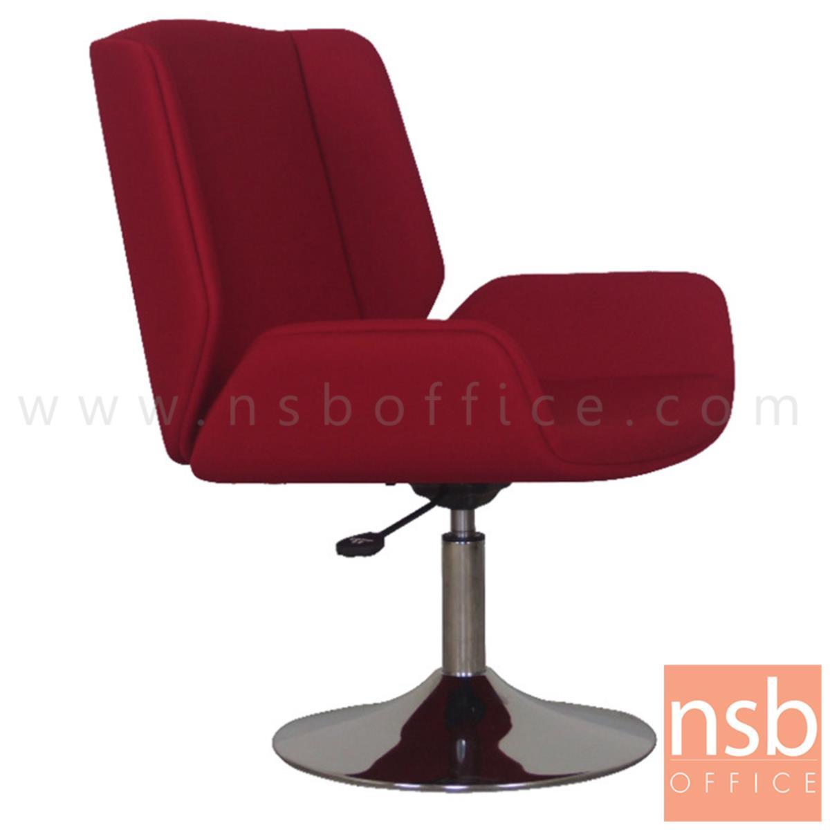 B29A241:เก้าอี้โมเดิร์นบาร์หุ้มผ้า รุ่น MM-FC-2R ขนาด 60W cm. โช๊คแก๊ส ฐานจานกลมโครเมี่ยม