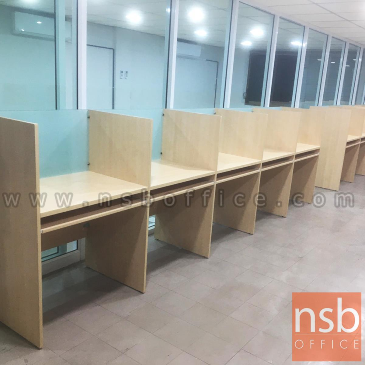 โต๊ะ call center แถวเรียงเดี่ยว   สำหรับ 2, 3, 4, 5 ที่นั่ง ขนาด 80W cm. ต่อที่นั่ง