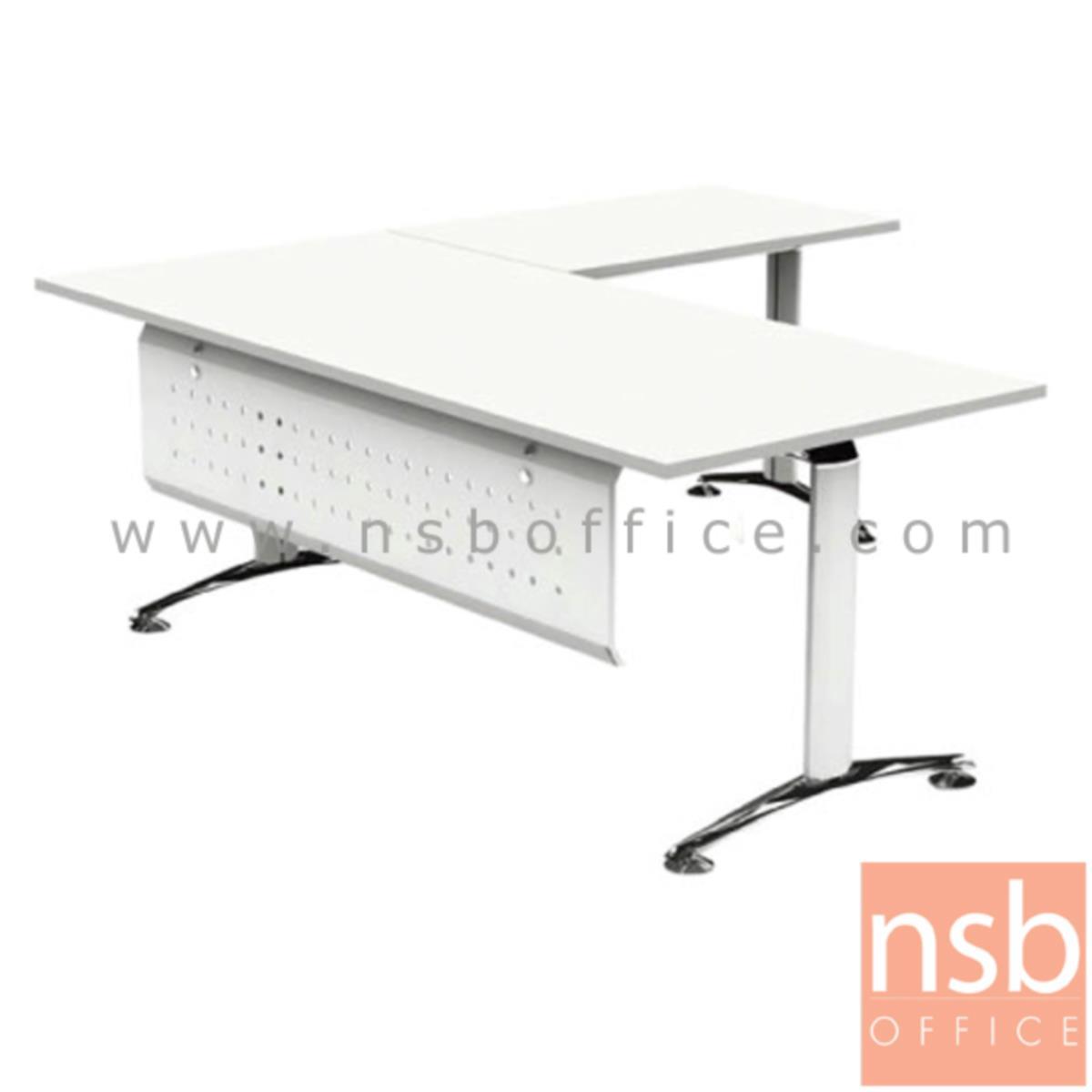 โต๊ะทำงานตัวแอล  รุ่น HB-EX3DL2019  ขนาด 200W1*190W2 cm. ขาอลูมิเนียม