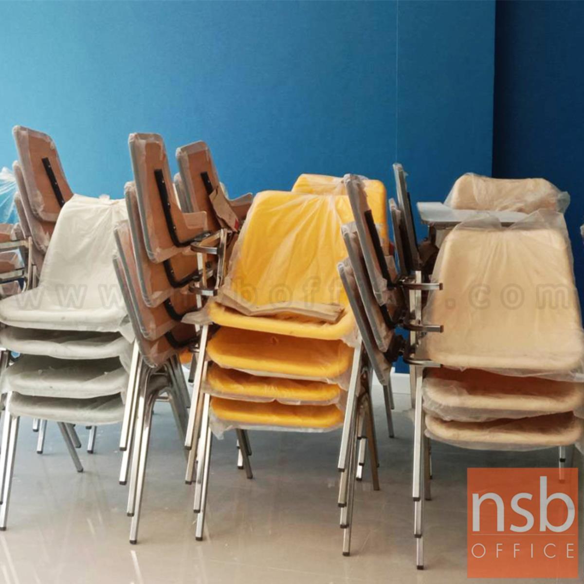 เก้าอี้เลคเชอร์เฟรมโพลี่ รุ่น Clarins (คลาแรงส์) ขาเหล็กชุบโครเมี่ยมและขาเหล็กพ่นดำ
