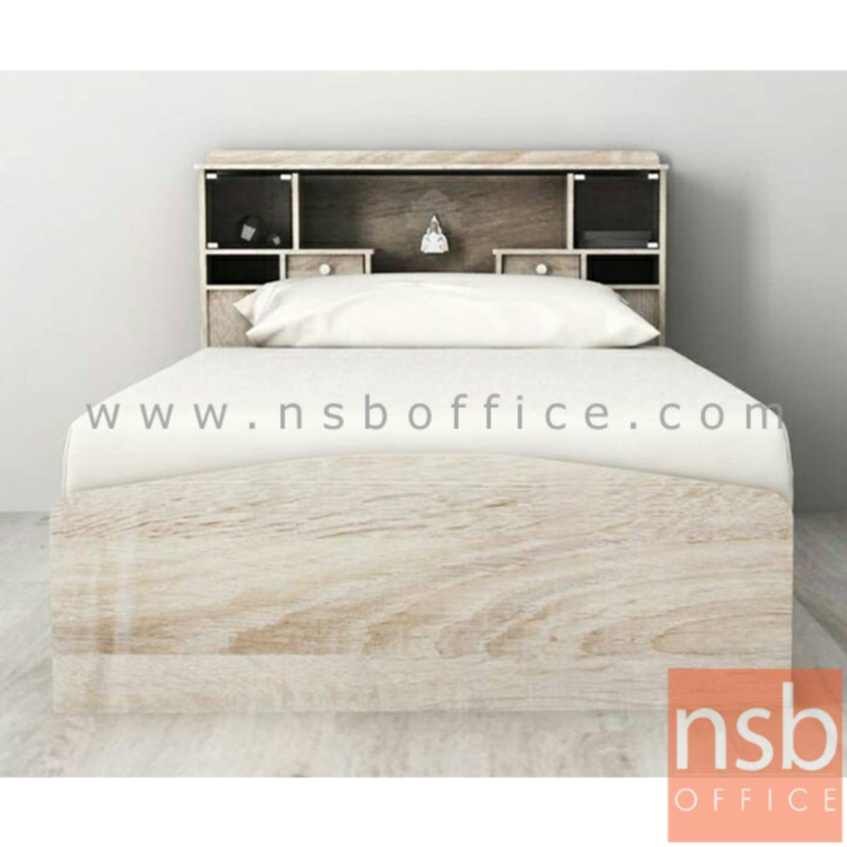 เตียงนอนไม้ปาร์ติเกิ้ลบอร์ด มีโคมไฟ  รุ่น Acacia (อคาเซีย)  ขนาด 3.5 ฟุต (ไม่รวมที่นอน)