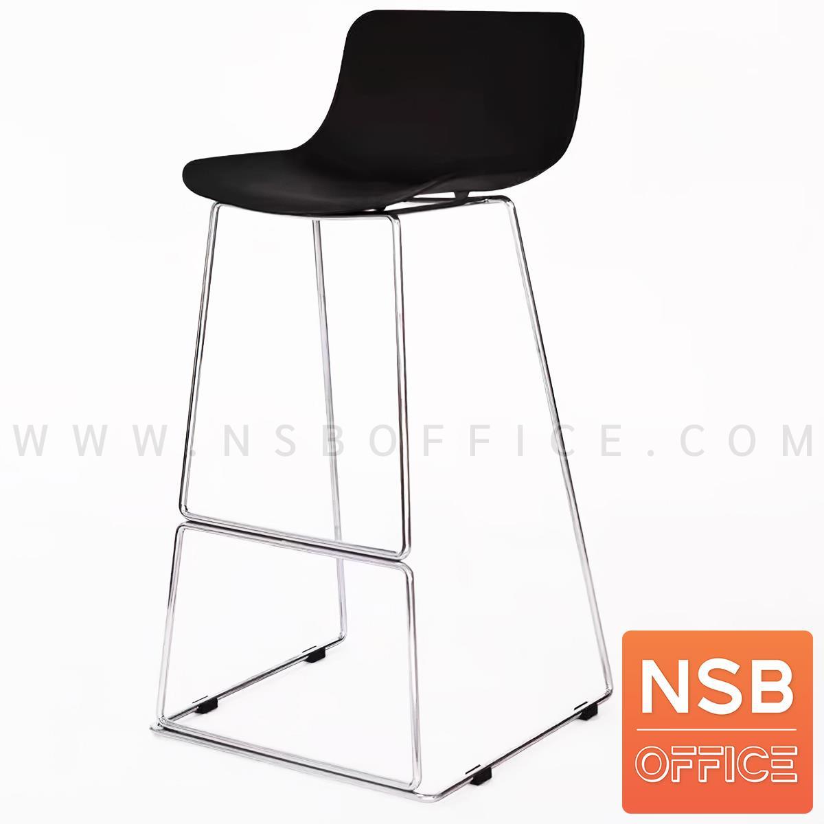 B18A091:เก้าอี้บาร์สูง รุ่น Jenetta (เจเนตต้า)  โครงขาเหล็กเพลาตันชุบโครเมี่ยม