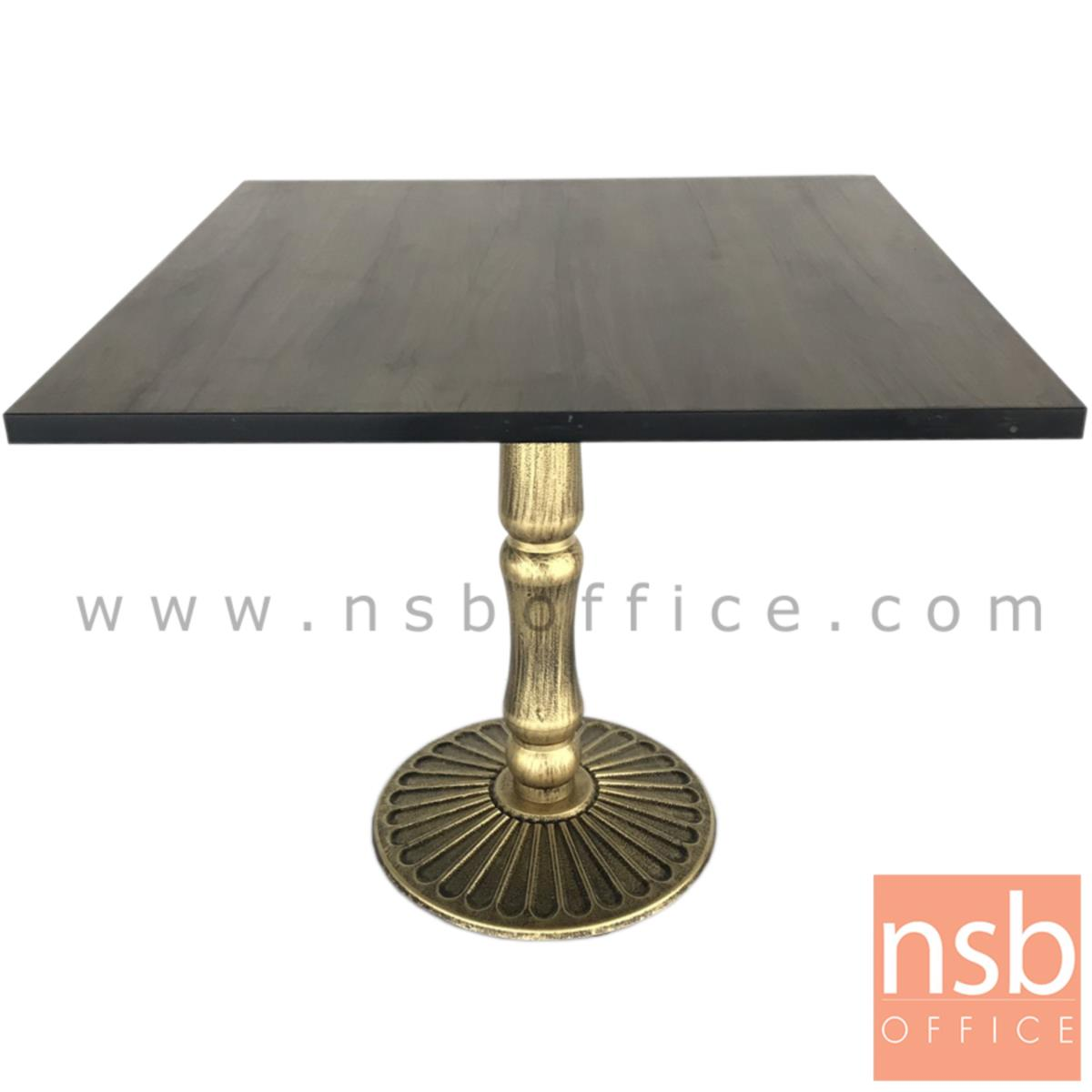 A14A227:โต๊ะหน้าเมลามีน รุ่น RHINE (ไรน์) ขนาด 80W cm. ขาเหล็กสีทอง