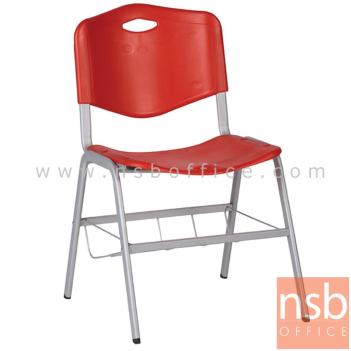 เก้าอี้อเนกประสงค์เฟรมโพลี่ รุ่น B218-318  ขาเหล็กพ่นสีเทา