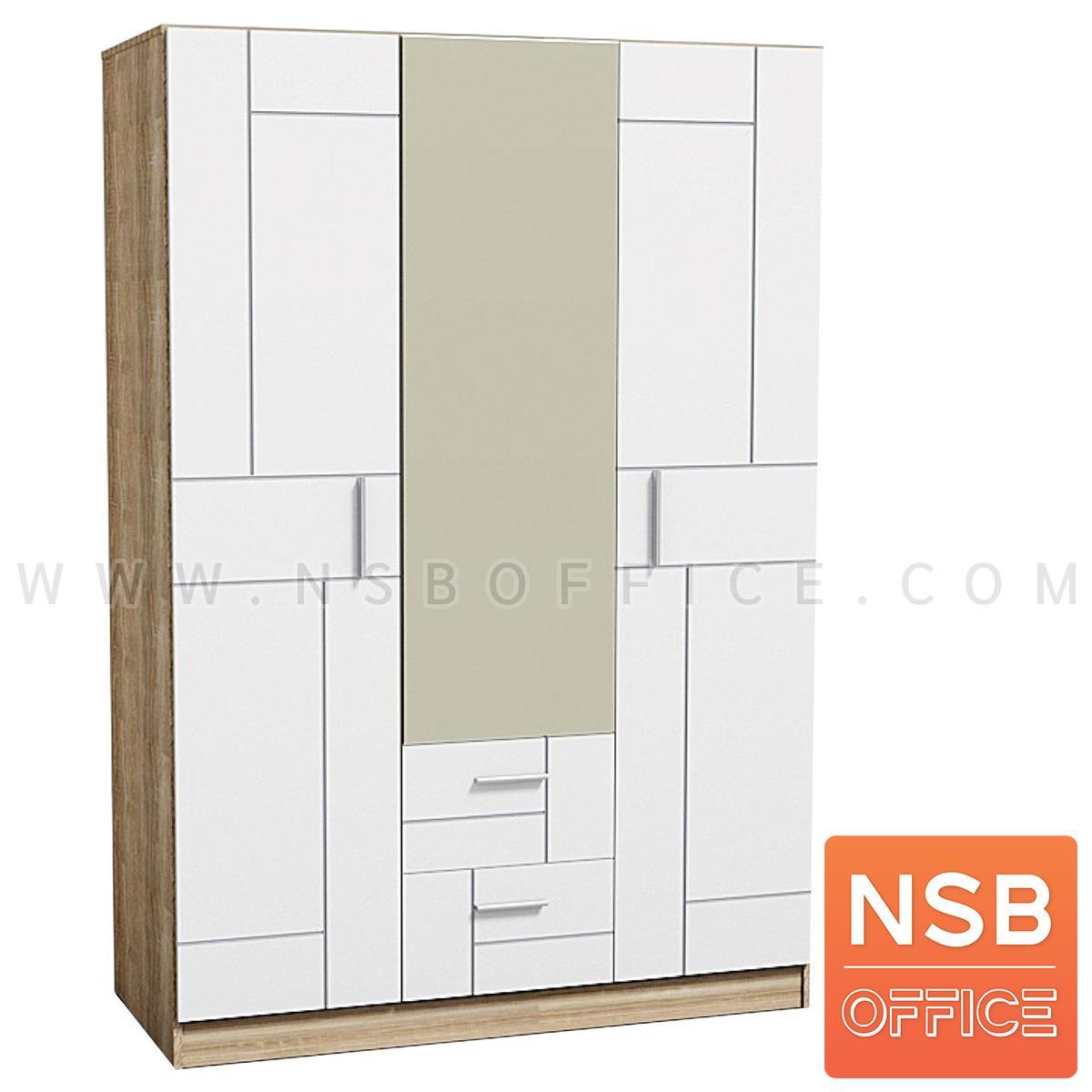 ตู้เสื้อผ้าไม้ 3 บานเปิด 2 ลิ้นชัก รุ่น Honeyjam (ฮันนี่แจม) ขนาด 136W*60D *200H cm. มีบานกระจก