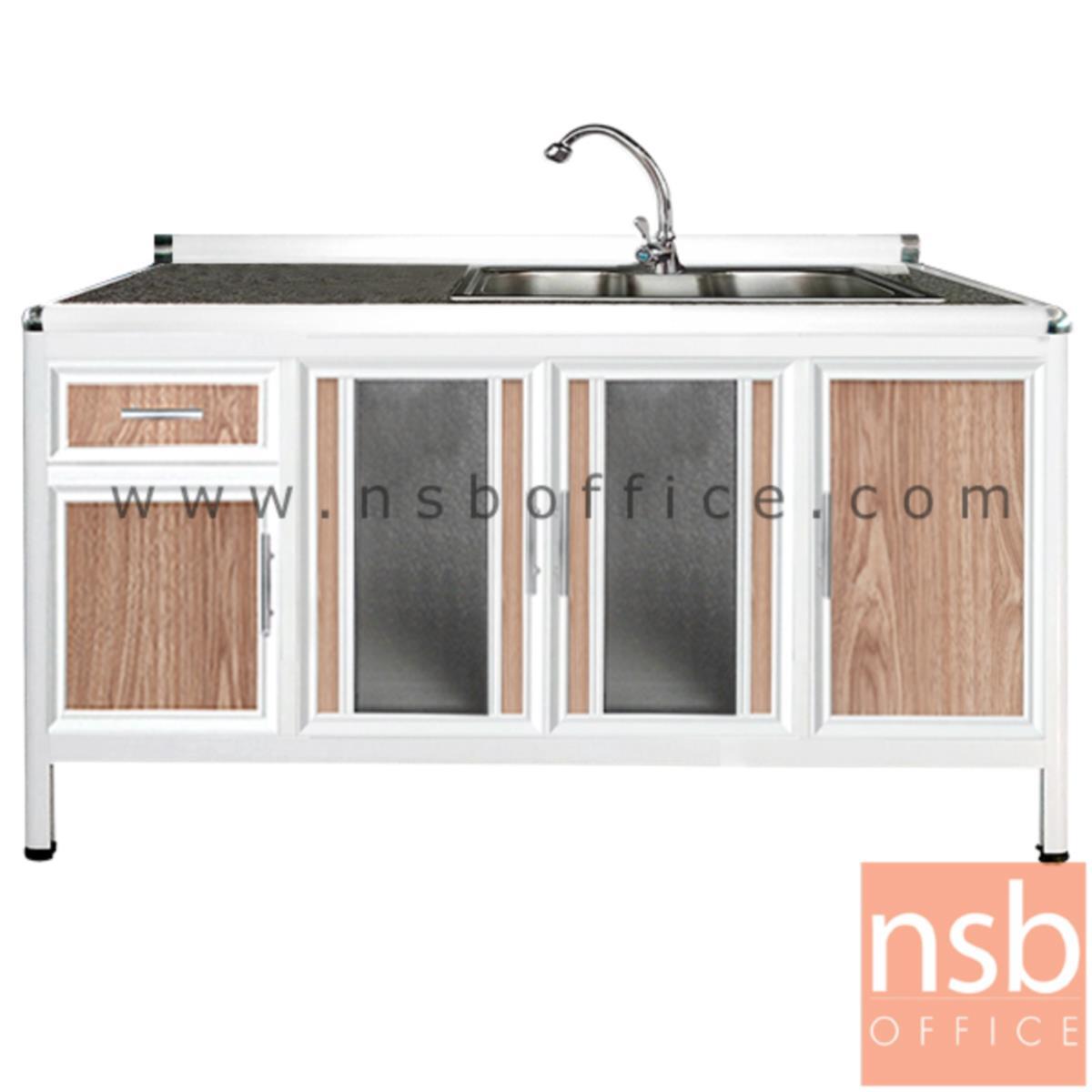 G07A135:ตู้ครัวตอนล่างอลูมิเนียมอ่างซิงค์ 1 หลุมลึก   กว้าง 160 ซม