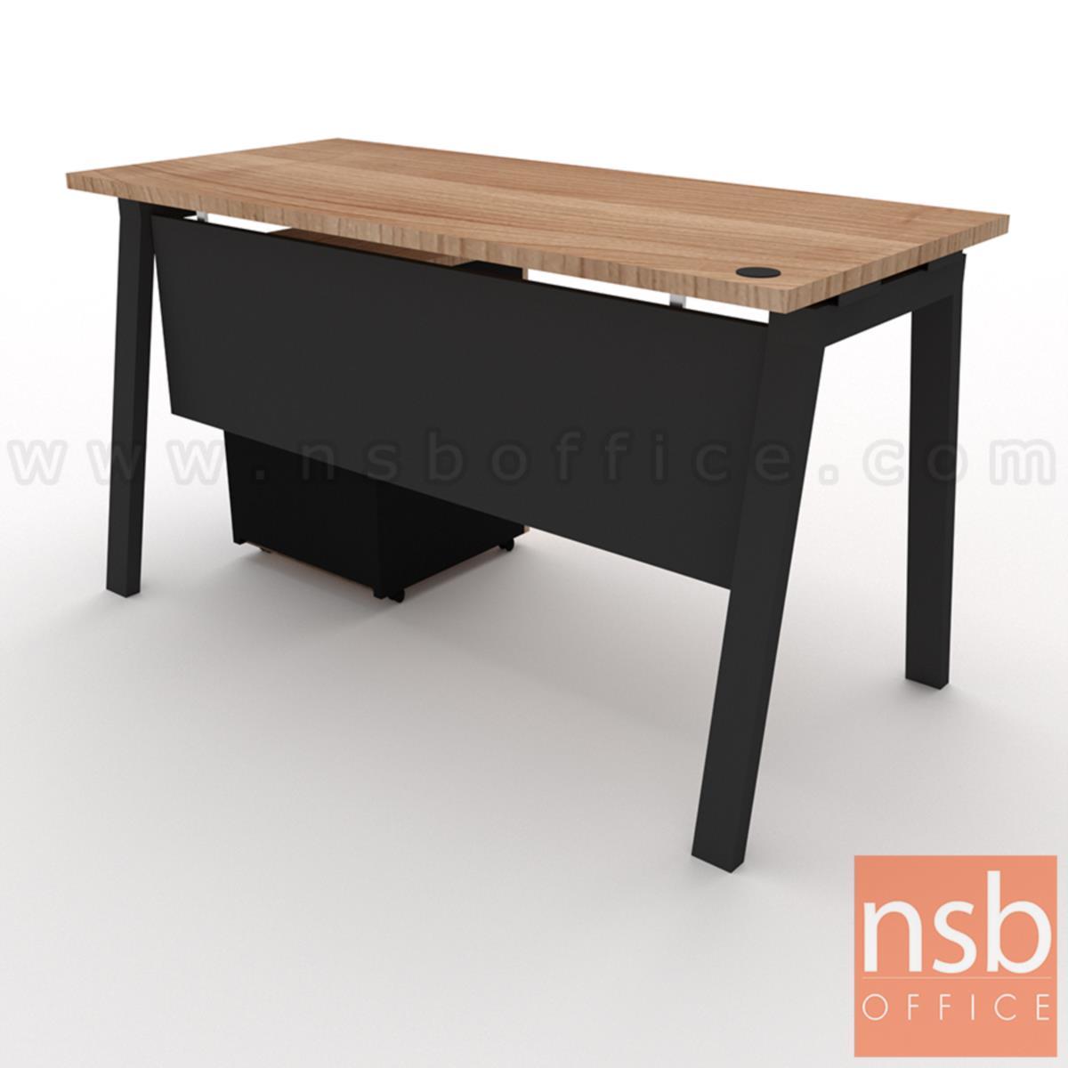 โต๊ะทำงานทรงสี่เหลี่ยม  รุ่น Slash-2 (สแลช-2) ขนาด 120W, 135W, 150W cm. พร้อมลิ้นชักล้อเลื่อน