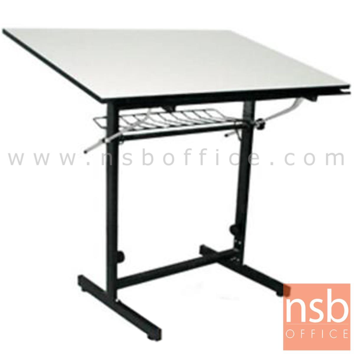 E06A019:โต๊ะเขียนแบบ 119.4W*80D*95.3H cm.  รุ่น TD-02108  ปรับองศาได้ มีตะแกรงข้างใต้
